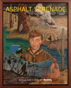 "Painting for the film poster art for ""Asphalt Serenade"""
