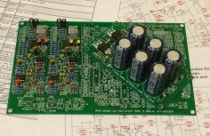Photo of a circuit board with components
