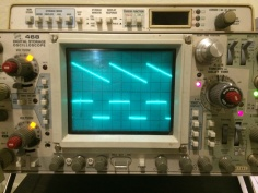 Photo of an oscilloscope
