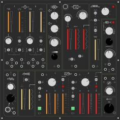 image of a proposed front panel design for a Mk II synth