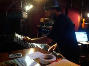 Photo of engineer Barry Goldberg at Little Box Studios.