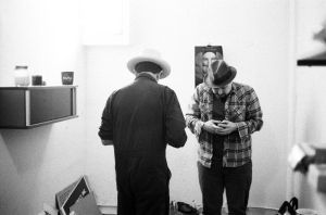 Photo of James Slay and Carlos Grasso at The Brewery Arts Colony.