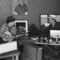 Photo od James Slay and Carlos Grasso of Dumfuxx at rehearsal.