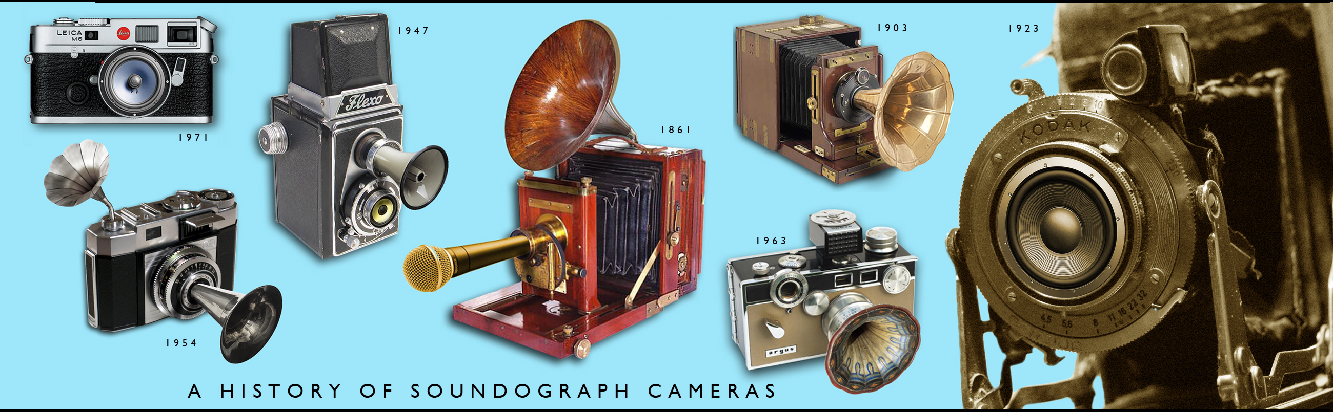 Photo of soundograph cameras.
