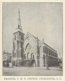 Old photo of the AME church in Charleston, S.C.