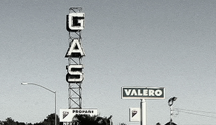 Photo of a gas sign
