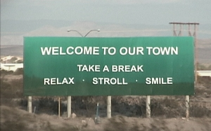 Photo of a highway sign