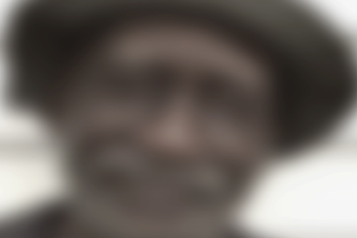 Out of focus photo of a man