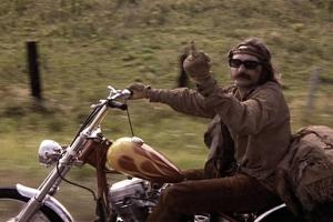 """still image of Dennis Hopper from """"Easy Rider"""""""