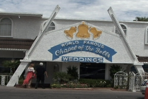 Photo still of a LAs Vegas wedding chapel.