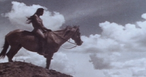 Image of a Native-American on a horse.