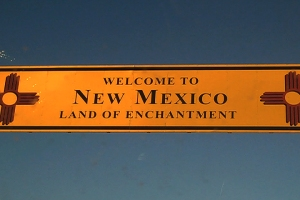 Image of the New Mexico Welcome sign.