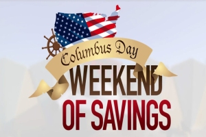 graphic of a columbus day sale
